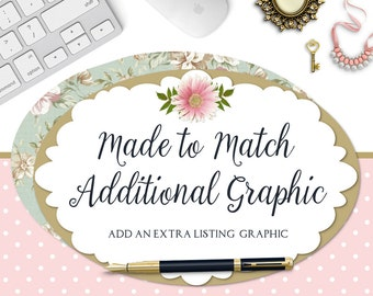 Listing Graphic - Made to Match Additional Listing Graphic to Match any Premade Sets in the Shop - For Previously Purchased From the Shop