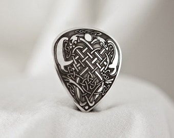 Celtic Art Pendant, Etched in Sterling Silver. Adapted from The Book of Kells.