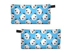 Pencil Case Zipper Pouch Holder Back To School Cute Panda Cases Bag For Girl Boy Teen Friend Kawaii Fun Cosmetic Bags Handmade Gift Gifts