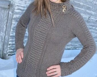 Sweater knitting pattern / Seamless knit sweater pattern / Adult sweater pattern / Adult cable knit sweater / Knit sweater pattern / Sweater