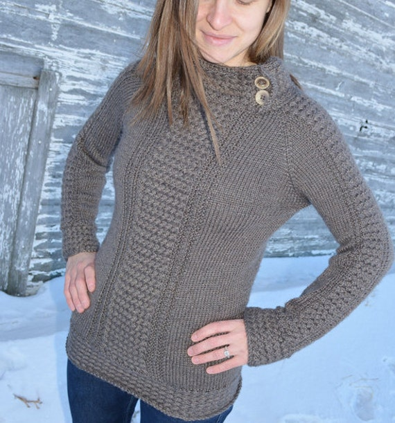 Knitting Pattern For Seamless Sweater : Sweater knitting pattern / Seamless knit sweater pattern