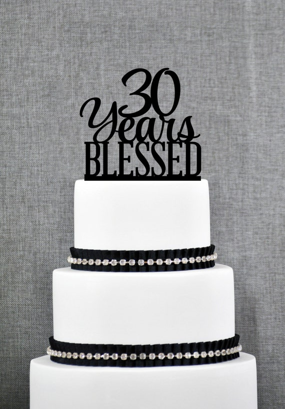 20 years blessed cake topper