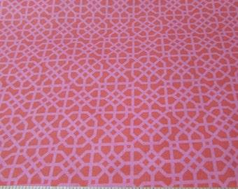 Flannel Fabric - Pink Geo - 1 yard - 100% Cotton Flannel
