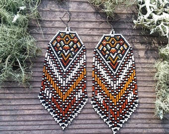 Marrakesh..Beaded Fringe Earrings