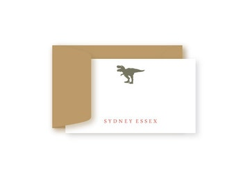 Personalized Birthday Gift Enclosure Cards, Set of 10, Dinosaur