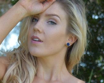 Druzy Earrings - Boho Earrings -  Blue Druzy Earrings - stud earrings