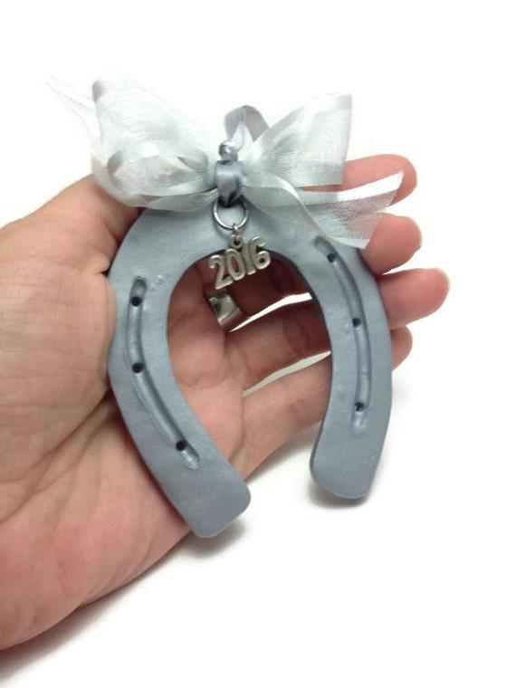 2017 Hanging Horseshoe Ornament Clay Horseshoe Ornament