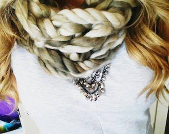 Super soft, chunky, knit neck cowls