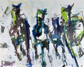 Original Abstract Horse Painting, Large Affordable Horse Art, Expressive And Colorful Horse Artwork