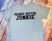 Gym Shirt - Peanut Butter Junkie - Vintage Gray Tee