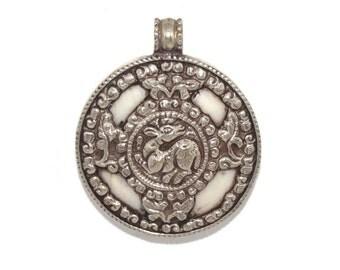Conch Shell Pendant Nepal Pendant nepalese pendant Tibetan Pendant Tibet Pendant Boho Pendant Bohemian Pendant gypsy Pendant PB94