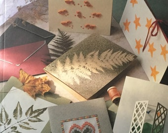 Card Crafting Book Gillian Souter FREESHIPPINGnUSA PapermakingEnvelopesLetteringWeavingPaintingNeedlecraftPrintingQuillingPhotoImages et137