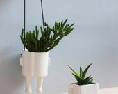 Pack 2 planters.  Sitting and Hanging planter.