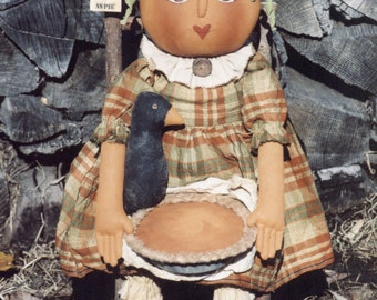 Primitive PATTERN Pretty as Pie Pumpkin Girl