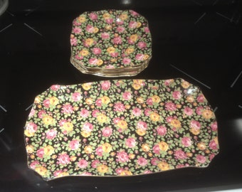 Great Little Dessert Set by Royal Winton Chintz in the Beeston pattern 7 Pieces