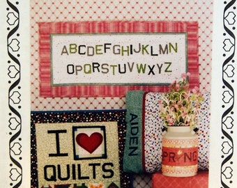 Alpha-Blocks For Personalized Patchwork By Jodi Warner And Hearthsewn Quilt Pattern Packet 2008