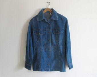 LEE Vintage  70s Hippie Denim Jacket shirt