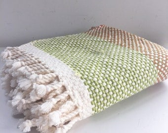 Green and Orange Baby Blanket