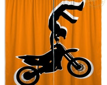 Unique Dirt Bike Curtains Related Items Etsy