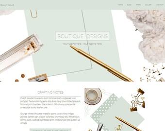 "Website Template - Website Design - Premade Website - ""Boutique Designs"" Photography Website"