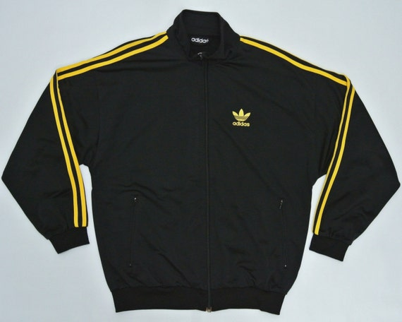 black and yellow adidas jacket