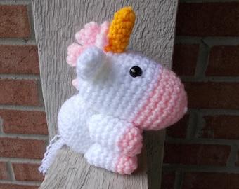 Handmade Unicorn Stuffy, Crochet Newborn Photo Prop, Amigurumi Horse Unicorn, Baby Photography Stuffed Toy, Magic Theme Animal, Fairy Tale