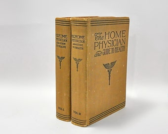 The Home Physician and Guide to Health Volumes 1 & 2 1943 Canadian Watchman Press Medical Reference Books
