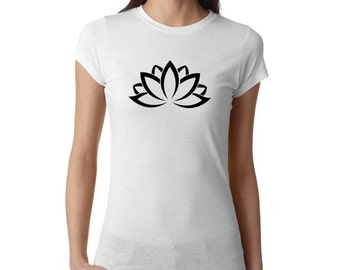 Meditation Shirt, Lotus Flower Shirt, Yoga Shirt, Yoga Top, Yoga Tank, Om Shirt, Namaste Shirt, Ladies Shirt, gym shirt, #LS67