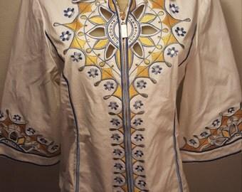 FREE  SHIPPING  1980 Designer Bob  Mackie Wearable Art Jacket