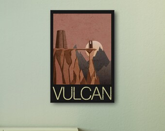 Star Trek - Vulcan Travel Print wall art. Choose either a rolled print or amazing float frame
