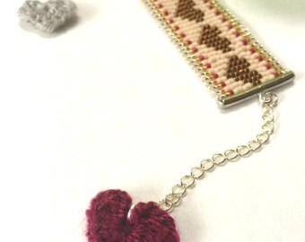 Beadwork Copper Heart Bracelet