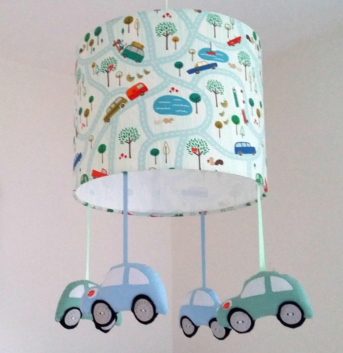 Car Lamp Shade Nursery Lighting Blue Ceiling Pendant Racing
