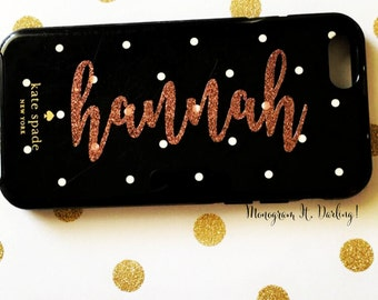Vinyl Name Decal for iPhone, Samsung | Name Sticker | Glitter and Regular colors!