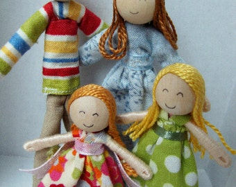 Bendy Doll Family--Design Your Own