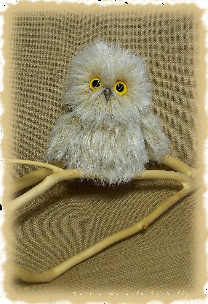 Toy Owl Knitting Pattern / knitting pattern toys / knitted