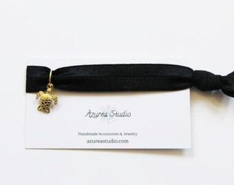 Black Gold Turtle Hair Tie