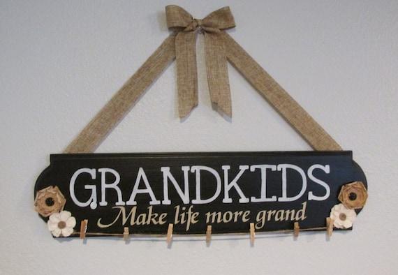 Grandkids Make Life Grand Sign Grandkids Grandchildren Sign