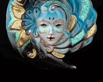 Venetian Mask Eclipsys Blue