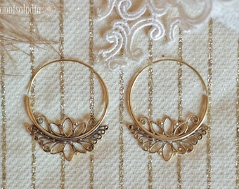 Lotus Flower Hoops