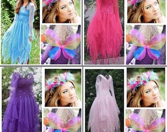 Adult Fairy Halloween  Costume ~ Renaissance ~ Sweet 16 ~ Party ~ Batcholette Party ~ Festival