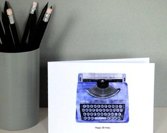 Typewriter Birthday Card
