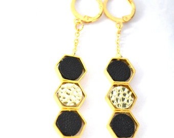 collection diamond gold plated earrings