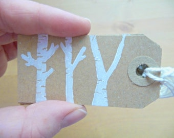 Christmas Gift Tags - 'Joyeux Noël' (Set of 10) - Kraft Tags, White Tags, Christmas Gift Wrap