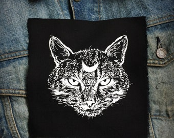 Moon Cat  Patch | Patches | Punk Patch | Horror | Black