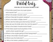 Rustic Watercolor Floral and Wood Bridal Quiz Bridal Shower & Wedding Game