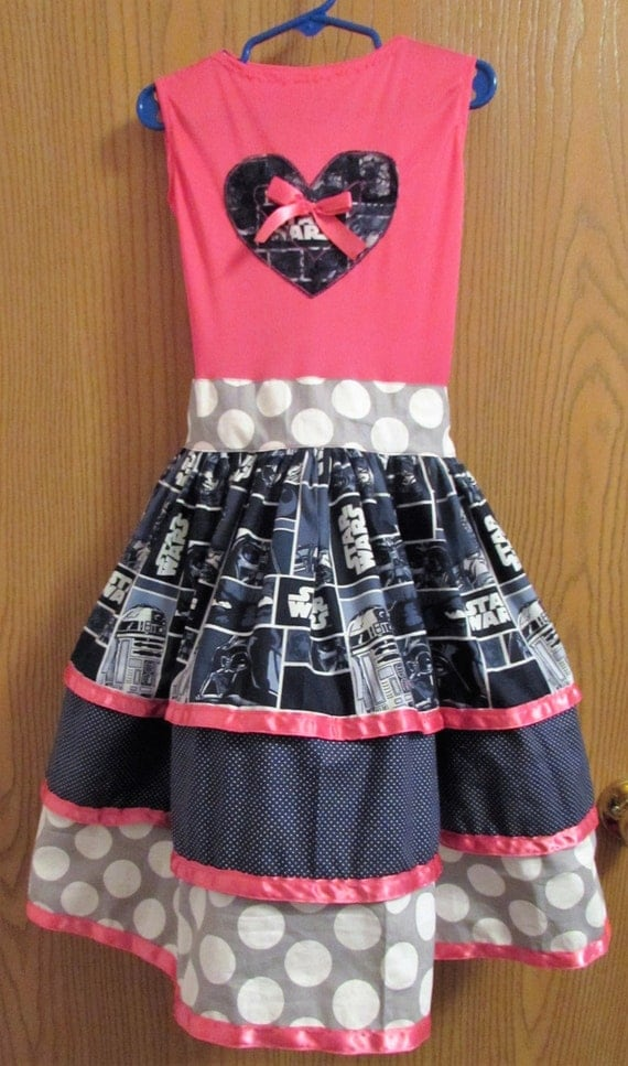 Girls Star Wars dress, Star wars birthday,toddler Star Wars,Star Wars birthday dress,Star Wars dress,long dress,girls dress,toddler dress