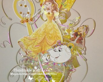 Belle/ Disney Beauty and the Beast Theme Table Centerpiece