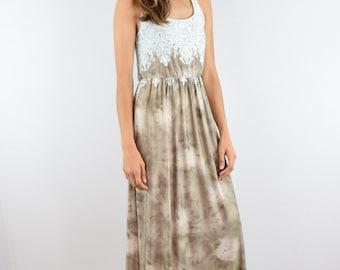 Lace print maxi dress S to xL