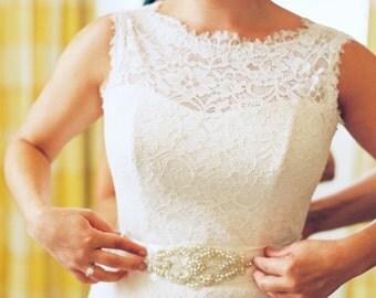Rhinestone Sash, Pearls Rhinestones Bridal Sash ,Wedding Dress Sash Belt, Rhinestone Bridal Bridesmaid Sash Belt, Wedding dress sash