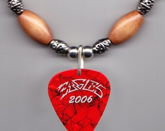 Eagles Steuart Smith Orange Pearl Guitar Pick Necklace - 2006 Tour